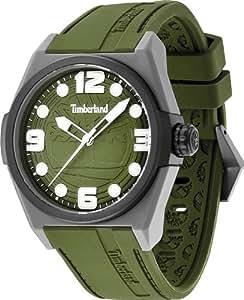 Timberland - TBL.13328JPGYB/19 - Radler - Montre Homme - Quartz Analogique - Cadran Multicolore - Bracelet Résine Vert