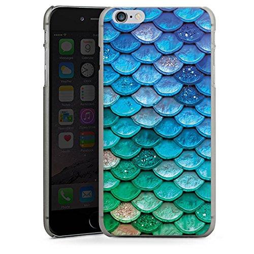 Apple iPhone 5s Hülle Case Handyhülle Schuppen Meerjungfrau Mermaid Hard Case anthrazit-klar