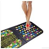 Morningsilkwig Reflexologia Paseo piedra pies dolor de pierna aliviar alivio salud pie masajeador colchoneta estera de acupresión Pad massageador (69X35cm)