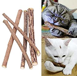 AST Works Cat Cleaning Teeth Pure Natural Catnip Pet Cat Molar Toothpaste Stick Silvervine