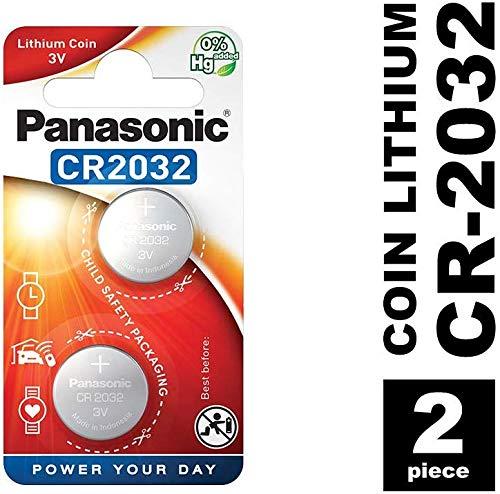 Panasonic CR2032 Lithium Knopfzelle, 3V, 2er Pack