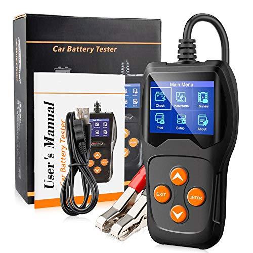 TERMALY Tester Batterie Auto Professionale con Stampante,Tester Batterie 12v,Tester Batterie Professionale,Supporto System XP WIN7 WIN8 WIN10,Schermo a Colori TFT da 2,4 Pollici,A