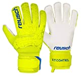 Reusch Fit Control RG - Guanti da Portiere da Uomo, Uomo, 3970615, Lime/Safety Yellow, 9