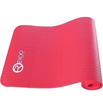 REXOO Pilates Yogamatte Fitnessmatte Gymnastikmatte Sportmatte Matte in Verschiedenen Farben von REXOO