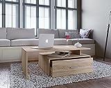 AISEN Padua Couchtisch, Holzwerkstoff, Sonoma Eiche Dekor, 60x100x35 cm