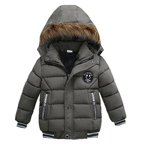 Babykleidung,Sannysis Kinder Mantel Jungen Mädchen Dick Jacke Gepolsterte Winterjacke Kleidung 2-5Jahre (110, Grau) (Kleinkinder Mädchen Jacke)