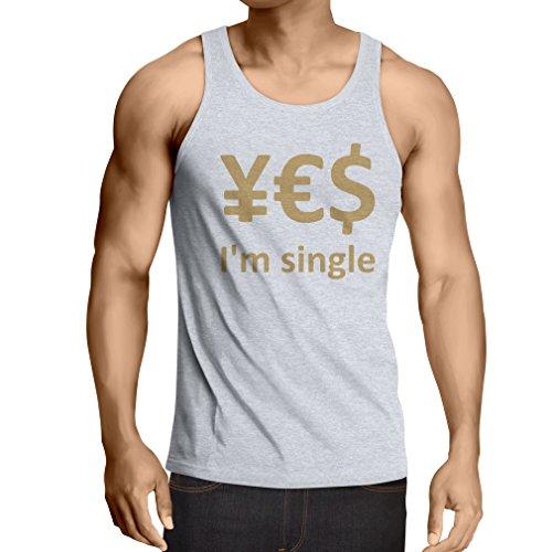 lepni.me N4596V Weste Yes, I\'m Single! (XX-Large Weiß Gold)