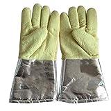 B Blesiya Profi Doppelschicht Schweißerhandschuhe Grillhandschuhe für Schweißarbeit/Maschinenmontage/Küche/Grillfest, aus Baumwolle