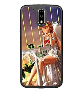 Fuson Designer Back Case Cover for Motorola Moto G4 Plus (Wedding Dress Model Girl Modern Girl Pretty Girl Gorgeous Girl)