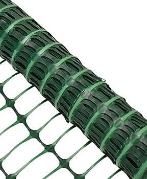 Woodside 1m X 15m Green Plastic Barrier Safety Pet Event Mesh Fence Netting Net 1