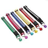 Wencaimd 6er Set Katzenhalsband Einstellbare Reflektierende Haustier Halsband Reflektierendes Katzenhalsband für Hauskatzen Katzen Kleine Hunde