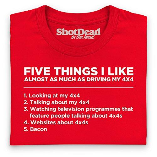 Five Things I Like - 4x4 T-Shirt, Herren Rot
