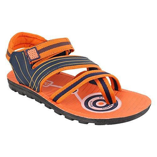 World Wear Footwear Men's Canvas Orange Sandals & Floaters-10  available at amazon for Rs.198
