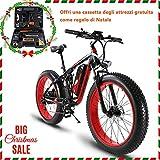 Extrbici e bike herren XF800 1000W 48V 13AH Fett-Reifen-Elektro-Bike 26 'Aluminium-Legierung Rahmen Full Suspension Fett Bike Cruiser 7 Geschwindigkeiten Shimano Shift System