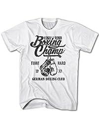 Monkey Print Camiseta Hombre Rey De Anillo Alemán Boxing Club Boxeo Fight Sport DXnAerBWiC