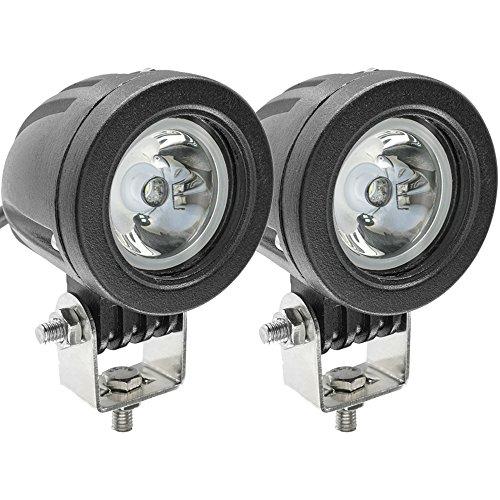 Faretti LED Moto,10W Faro Moto 12V/24V Fari LED Fuoristrada Lampada da Lavoro Fari Supplementari Moto 1800LM per Motociclo ATV SUV