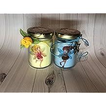 Fatine Fairies 2 vasetti con candele di cera di soia e oli essenziali - idea regalo per compleanno anniversario frasi d'amore regalo per la mamma la nonna la zia