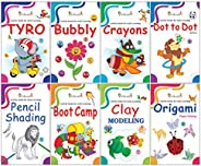 Activity Books Collection for Early Learning by InIkao : Set of 8 Activity Books for Kindergarten kids