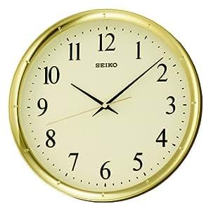 Seiko Round Arabic Numerals Wall Clock Amazon Co Uk