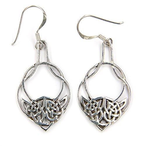 k Ohrringe Kelten Silber Ohrhänger 925 Sterlingsilber Schmuck, Länge mit Hänger: 4,2cm ()