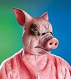 NET TOYS Schweine Maske Schweinemaske Schwein Maske Schweinsmaske Tiermaske Ferkel Karnevalsmaske Faschingsmaske