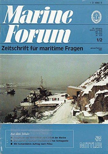 Marine Forum, Heft 1/2 / 1994, 69. Jahrgang