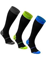1 ou 3 paires de chaussettes longues de sport compression