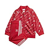 adidas I M TRF SART- Trainingsanzug für Babys, Rot/Weiß