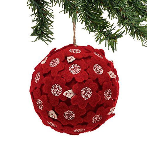 Department 56 Winter Frost Rot Flower Ball Ornament -