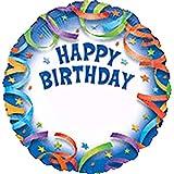 Anagram International Luftballon, Happy Birthday, personalisierbar, 45,7 cm