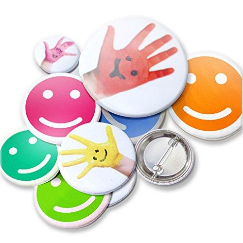 Kopierladen Button/Badge Pin/Anstecker selbst Gestalten, personlisierbar mit eigenem Foto, Bild oder Text, rund, Ø 38 mm, 5 Stück, auch ALS Namensschild