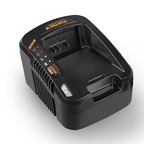 FUXTEC 120V 1Ah Akku Batterie Ladegerät EC130 zum laden der Samsung Lithium Ionen Liforce Batteriezellen EA20 und EA30, Ausgangsstrom: 1A , Eingangsleistung 160W Schutzklasse II, IPX0