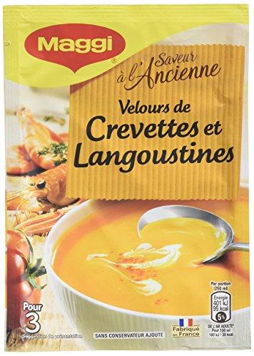 Maggi Soupe Instantanée Saveur à l'Ancienne Velours de Crevettes/Langoustines à la Crème 14 x 74 g
