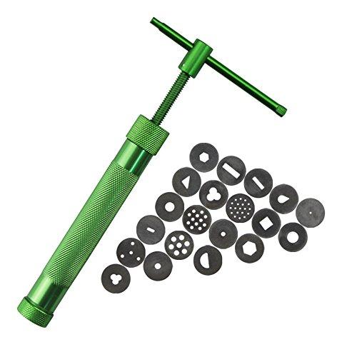 OFT Edelstahl Ton Clay Extruder Dekoration Extruder Werkzeug (grün)