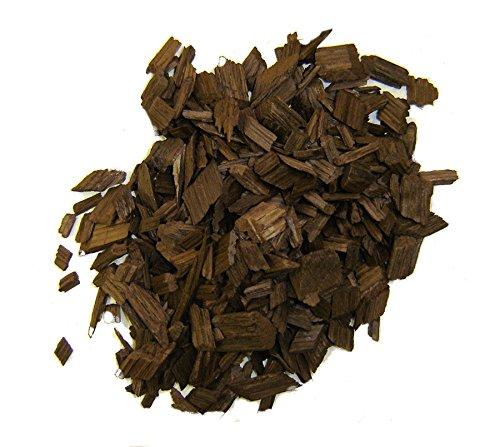 Eichenholzchips Französisch (Heavy Toasted) 100g - Französische Eichenholzchips | Eichenholzspäne | Räucherholz | Eichenholz Chips | Holzspäne | Holzfässer