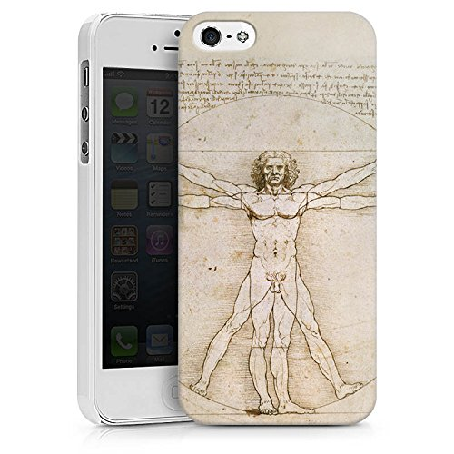 Apple iPhone X Silikon Hülle Case Schutzhülle Leonardo da Vinci The Proportions of Man Kunst Hard Case weiß