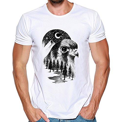 Uomogo t-shirt da uomo shirts camicie camicia polo animale camicetta cappotto maglione giacca felpe hoodie pullover uomini stampa tee shirt nero manica corta m~3xl modale animal
