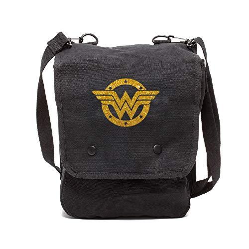 Wonder Woman Logo lienzo Crossbody Bolsa viaje Mapa
