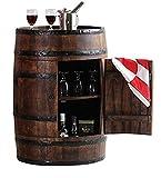#9: Jiya Creation Colonial Style Alcodrum Bar Cabinet With Door (Teak Wood Finish)