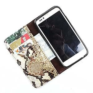 i-KitPit PU Leather Wallet Flip Case Cover For Karbonn S5 Titanium