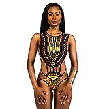 Bikini Set,feiXIANG® Donne Sexy Africano Stampare Imbottito Costume da bagno Stampa del punto d'onda Costumi da bagno Imbottito Benda Push-up Balneare Mare Swimwear Mutande Reggiseno (Nero, S)