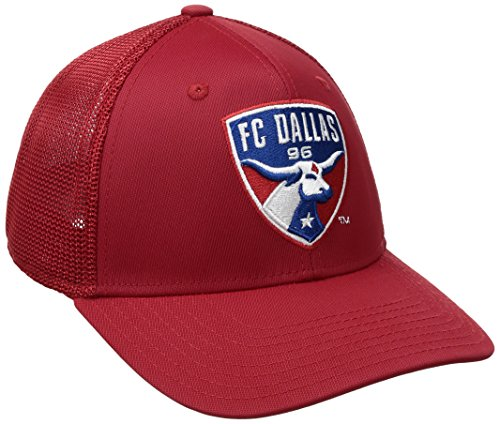 adidas MLS SP17 Fan Wear Tactel Trucker Flex Gap, Herren, MLS SP17 Fan Wear Tactel Trucker Flex Cap, rot, Small/Medium Tactel Flex-cap