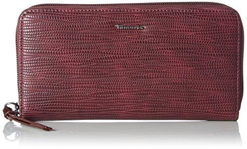 Tamaris - Debra Big Zip Around Wallet, Portafogli Donna Rosso (Vino Comb)