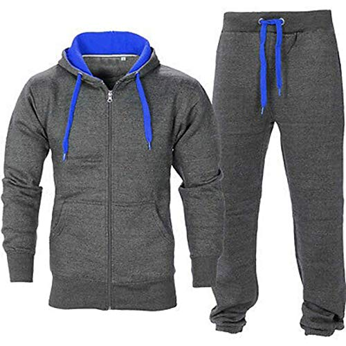 e6f1aab593cd Juicy Trendz Uomo Tuta Sportive Incappucciato Cerniera Jogging Activewear  Set di 2 Pezzi. - Face Shop