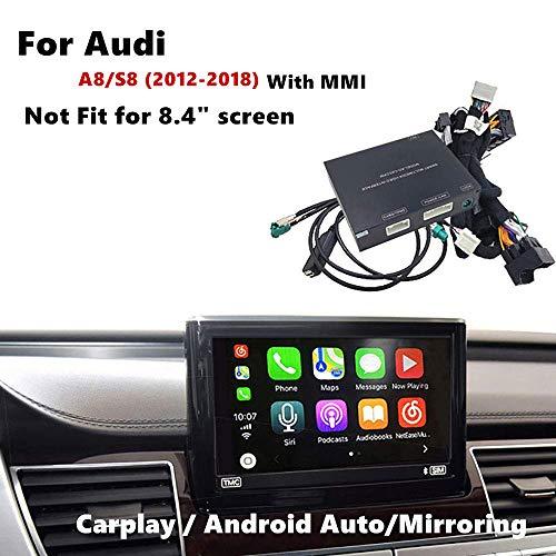 Auto Airplay Android Auto Carplay Box Schnittstelle Kompatibel für Audi A8 / S8 2012-2017 Werksbildschirm (Freisprecheinrichtung, Google GPS, Mirrorlink)