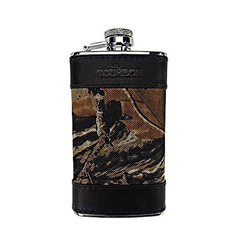 tourbon 113g Mini Portable en acier inoxydable alcools flasque alcool Whisky verres PAC Entonnoir pour Hunter–Camouflage 600D et en cuir