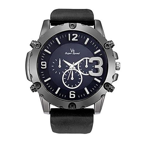 Herren Uhren, ihee New Fashion V8Herren Dünn Silica Gel Studenten Sport Quarz-Armbanduhr Casual Silikon Armband Quarz Armbanduhr M L