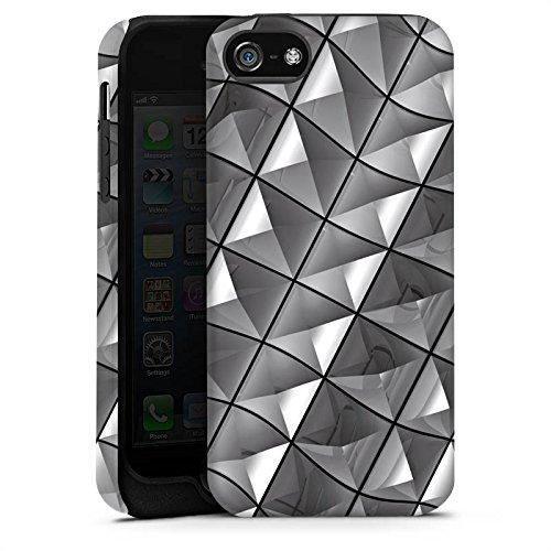 Apple iPhone X Silikon Hülle Case Schutzhülle Muster Nieten Kristall Tough Case matt