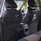 CNANOO Organizer per Sedile Posteriore per Auto Oxford Stivaggio Sacchetto per riordino Borsa in Tessuto Car Styling Anti-Child-Kick Pad Automobili Accessori Interni