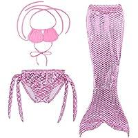 Naisidier Las Muchachas Cosplay Traje de baño Sirena Shell Traje de baño 3pcs Bikini Conjuntos